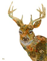 Retro Deer Fine Art Print