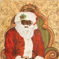 African American Sitting Santa Fine Art Print