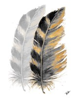 Two Watercolor Feathers Fine Art Print