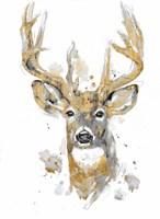 Gold Antlers II Framed Print