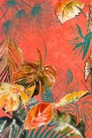 Orange Palm Selva II Fine Art Print