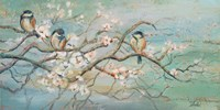 Spring Branch with Birds Fine Art Print