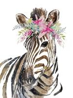 Whimsical Water Zebra Framed Print
