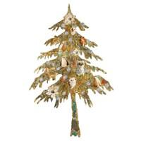 Holiday Tree with Birds Fine Art Print