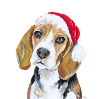 Holiday Dog I Fine Art Print