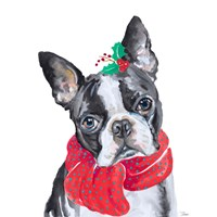 Holiday Dog II Fine Art Print