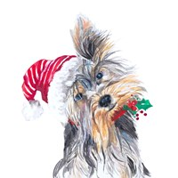 Holiday Dog III Fine Art Print