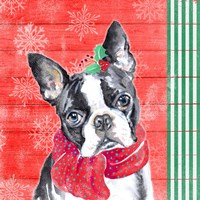 Holiday Puppy II Fine Art Print