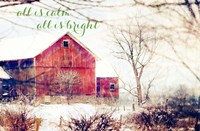 Calm and Bright Barn Fine Art Print