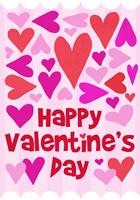 Happy Valentine with Hearts Fine Art Print