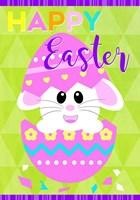 Happy Easter Bunny in Egg Fine Art Print