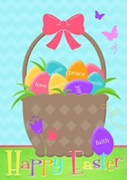 Happy Easter Basket Fine Art Print
