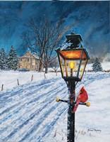 Winterberry Lamppost Fine Art Print