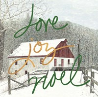 Love Joy Noel Fine Art Print