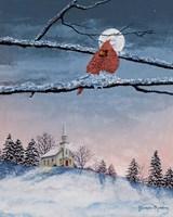 Winter Church Nights Fine Art Print