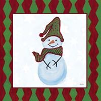 Snowman Zig Zag Square III Fine Art Print