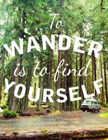 Wandering to Find Yourself Fine Art Print