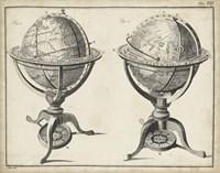 Antique Terrestrial & Celestial Globes Fine Art Print