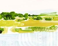 Patterned Landscape II Framed Print