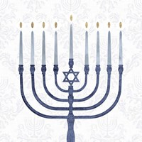 Sophisticated Hanukkah II Fine Art Print
