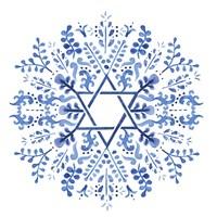 Indigo Hanukkah I Fine Art Print