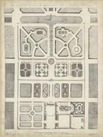 Antique Garden Design III Framed Print