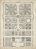 Antique Garden Design IV Framed Print