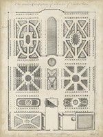 Antique Garden Design VI Framed Print
