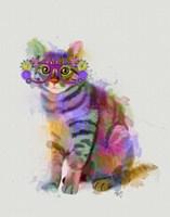 Cat Rainbow Splash 7 Fine Art Print