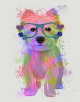 West Highland Terrier Rainbow Splash Fine Art Print