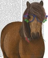 Horse and Flower Glasses Fine Art Print