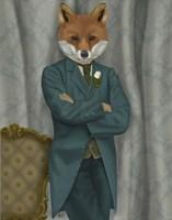 Fox Victorian Gentleman Portrait Fine Art Print