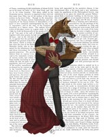 Foxes Romantic Dancers Fine Art Print