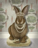 Rabbit and Pearls, Full Fine Art Print