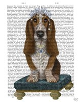 Basset Hound and Tiara Fine Art Print