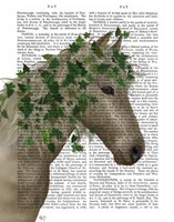 Horse Porcelain with Ivy Fine Art Print