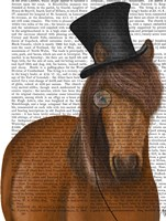 Horse Top Hat and Monocle Fine Art Print