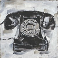 Retro Phone I Fine Art Print