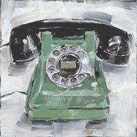 Retro Phone III Fine Art Print