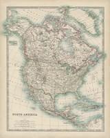 Map of North America Fine Art Print