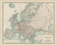 Map of Europe Fine Art Print
