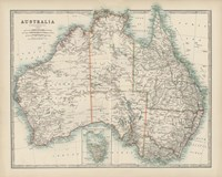 Map of Australia Fine Art Print