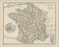 Map of France Fine Art Print