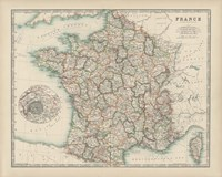 Map of France Fine Art Print