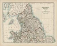 Map of England & Wales Fine Art Print