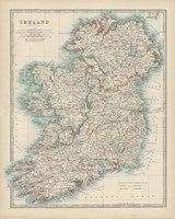 Map of Ireland Fine Art Print