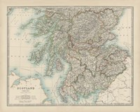 Map of Scotland Fine Art Print