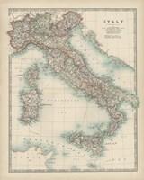 Map of Italy Fine Art Print