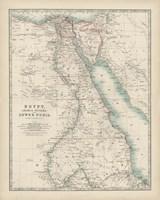 Map of Egypt Fine Art Print