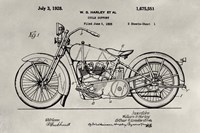 Patent--Motorcycle Framed Print